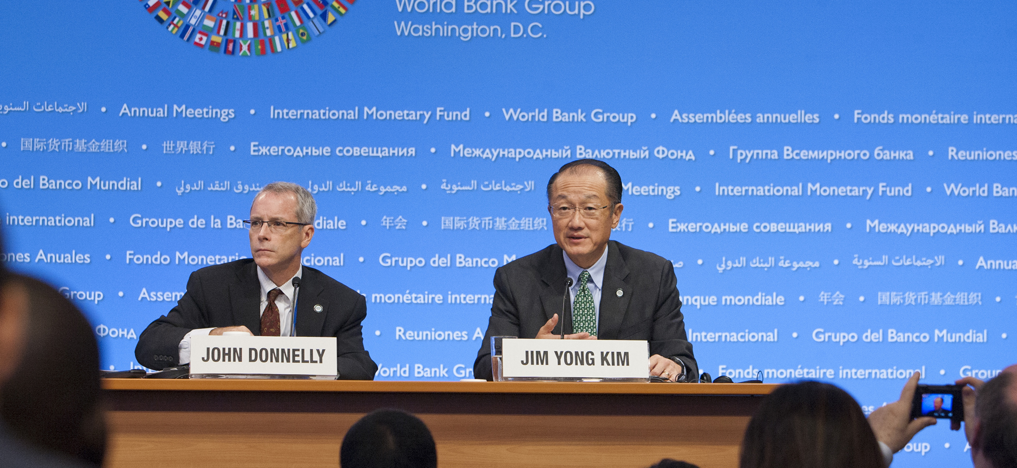 Conferencia de prensa del presidente Jim Young Kim